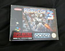 robocop 3 1992 snes ocean boxed tested super nintendo rare retro gaming pal uk