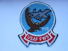 RAF/USAF  aviation squadron cloth patch    usaf fws  f15