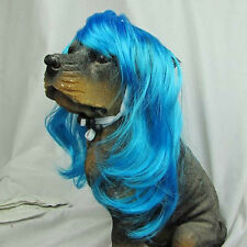 Synthetic Pet Wig Dogs Cats Wig Lovely Dog Cat Supplier Size S Blue TP53