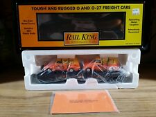 Rail King MTH Transport Flat Car with Ertl 1951 Panel Vans O Scale