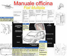 Manuale Tecnico D'officina Fiat Multipla WORKSHOP MANUAL SERVICE SOFTWARE DTE