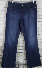 COLDWATER CREEK Jeans Dark Wash Stretch Whiskered Dark Classic Rise 14 36 x 32