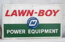 Vtg Lawn-Boy Outboard Marine Power Equipment Embossed Metal Dealer Stout Sign Co