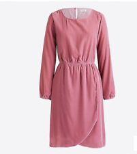 bb5b21fccce4 New J Crew Factory Velvet Tulip Hem Dress Guava Berry Pink Size 10 K3470 $98