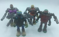 Teenage Mutant Ninja Turtles lot Of Four With Removeable Battle Armor And Shells