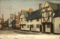 Wokingham England postcard ~1910/20 Old houses Straßenpartie alte Häuser