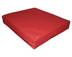 pa805t Red Water Proof Outdoor PVC 3D Box Sofa Seat Cushion Cover*Custom Size