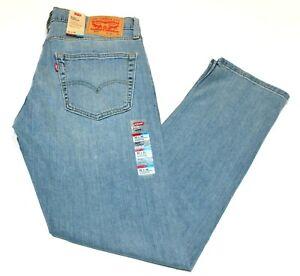 Homme Levi's 502 Standard Coupe Fuseau Bleu Clair Jeans Extensible #0295070531