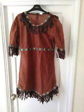 Red Indian Women Fancy Dress. Size 10, 12, 14. VGC.