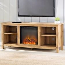 Fireplace TV Stand Space Heater Entertainment Center Living Room Media Storage