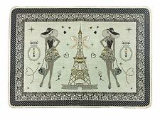 French Eiffel Tower Placemat Jacquard Jadore Gold Made In France