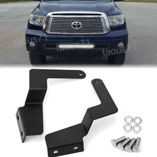 "Fit 07-UP Toyota Tundra 25"" 32"" LED Light Bar Hidden Grille Bumper Mount Bracket"