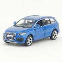 1:36 Audi Q7 V12 SUV Model Car Diecast Gift Toy Vehicle Kids Pull Back Blue
