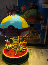 LEMAX Yuletide Carousel Carnival Ride Christmas Animated Music Santa Globe New