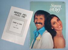 1977 Sonny & Cher Original Souvenir Program & Playbill Live Stage Show Concert