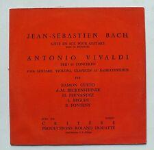 33 TOURS - BACH VIVALDI - SUITE EN SOL POUR GUITARE - CRITERE SCRD 5136 *