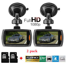 2x 1080P 2.4 Full Hd Car Dvr Vehicle Camera Dash Cam Video G-sensor Night Vision