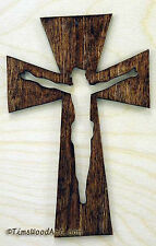 Crucifix Wood Cross, New 7 Inch Tall, for Wall Hanging or Ornament, Item S3-12