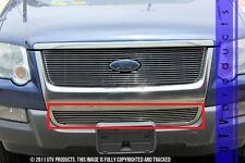 GTG 2006 - 2010 Ford Explorer 1PC Polished Overlay Bumper Billet Grille Grill