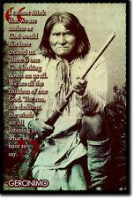 Geronimo Impresión de Arte Foto Afiche Regalo Native American Apache Indio citar