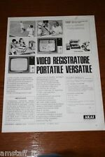 BD20=1972=AKAI TV VIDEO REGISTRATORE PORTATILE=PUBBLICITA'=ADVERTISING=WERBUNG=