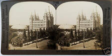 Keystone Stereoview Mormon Temple & Tabernacle, SLC, UTAH from 1930's T600 Set A
