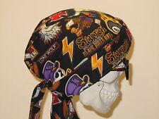 Biker Rallys Skull Cap Do Rag w/ sweatband.  MADE IN USA!!!