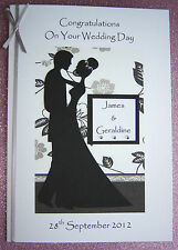 Personalised Bride & Groom Wedding Day Congratulations Card