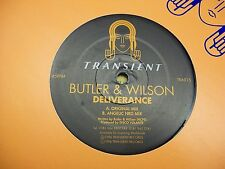 "Butler & Wilson-Deliverance-12"" Single-45rpm-Vinyl Record-Transient Trance"