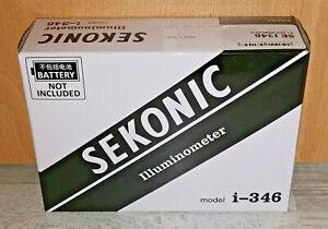 Sekonic i-346 - Illuminometer Lichtmesser Luxmetre Fernbedienung, Schwarz