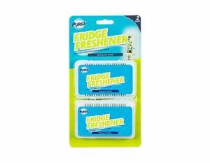 2 Fridge Freshener Deodoriser Air Fresh Kitchen Smell Odour Refrigerator Clean