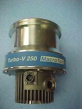 VARIAN TURBO V-250 MACROTORR Turbo Pump, 969-9007, VERY CLEAN, SPINS FREELY