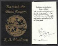 R A McCaffrey MacAvoy, Anne / TEA WITH THE BLACK DRAGON Signed 1st Edition 1987