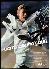 """Classic 1986 Adidas Ivan Lendl Tennis Collection """"Dominate The Court"""" Print Ad"""