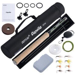 Goture 3.6M Tenkara Fly Fishing Rod Combo Ultralight Carbon Fiber Rod Line Lure
