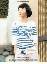 PUBLICITE ADVERTISING 027  2012   Petit Bateau  marinière  by Tsumori Chisato