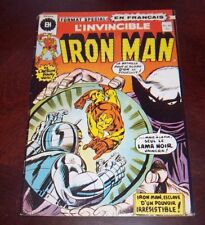 Editions Heritage Invincible Iron Man # 30 1976 French Edition Black White
