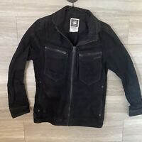 G-Star Raw Citishield Denim Jacket, Black, Size M Zip Front