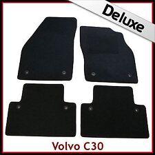 VOLVO C30 Manual 2006-2013 a medida Alfombrillas De Coche De Lujo Alfombra de 1300g Negro