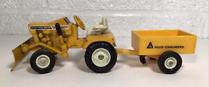 Vintage Ertl Allis Chalmers B112 Lawn & Garden Set Tractor W Blade & Cart Toy