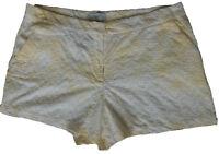 New Womens White & Yellow NEXT Shorts Size 18 Regular RRP £24