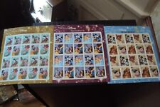 ART OF DISNEY STAMP SHEETS- ROMANCE FRIENDSHIP AND CELEBRATION-EX COND