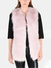 Armani Exchange Pink Faux Fur Gilet Vest Super Fluffy SOLD OUT NEW! Retail $200