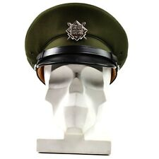 Original Czech army peaked cap. olive Air forces military parade cap with badge