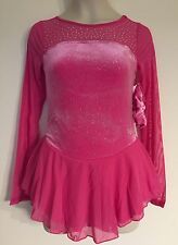 Figure Skating NEW Competition Dress Child L 12 Ice Skate Pink NWT Justice