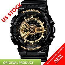 Casio G-Shock Analog-Digital Anti-Magnetic Gold and Black Resin Watch GA110GB-1A