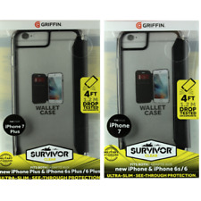 OEM Griffin For iPhone 6/6s/7/8 & iPhone PLUS Case Survivor Wallet (Clear/Black)