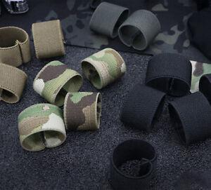 5Pcs Elastic Web Belt Loop Keeper Tactical Elastic Belt Keepers 25mm 38mm 50mm