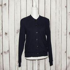 SUNSPEL England Women's Cardigan Sweater Navy Blue Thermal Cotton Size 10