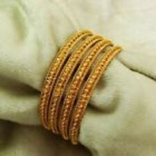 Indian Pakistani Goldplated Traditional Bracelets Bangle Set Wedding Jewelry 2.8